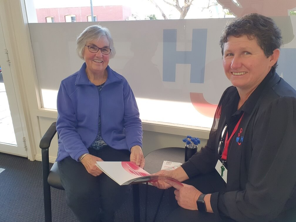 West Coast Homecare coordinator Kerrie Traeger with local Cleve resident Joy.